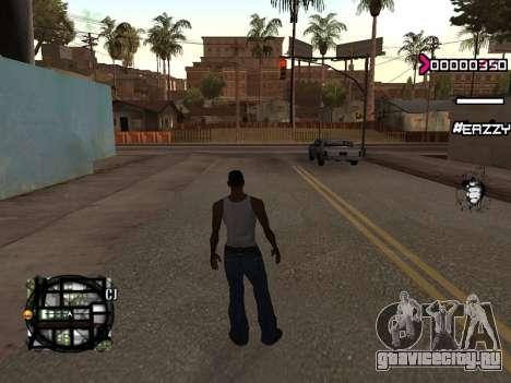 C-HUD WanTed для GTA San Andreas второй скриншот