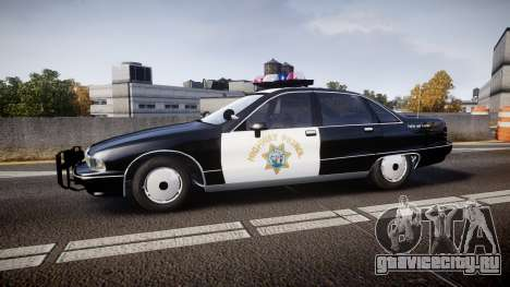 Chevrolet Caprice Highway Patrol [ELS] для GTA 4 вид слева