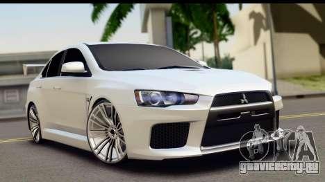Mitsubishi Lancer X RE-Racing Edition для GTA San Andreas
