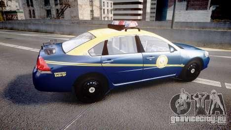 Chevrolet Impala West Virginia State Police ELS для GTA 4 вид слева