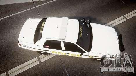 Ford Crown Victoria Police Alderney [ELS] для GTA 4 вид справа