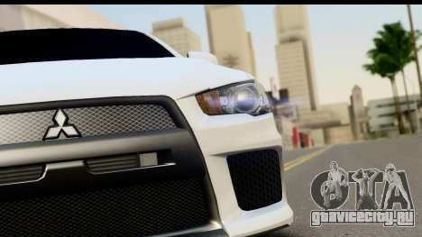 Mitsubishi Lancer X RE-Racing Edition для GTA San Andreas вид сзади