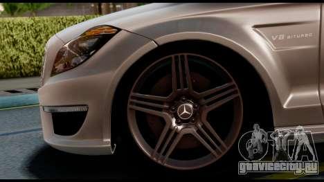 Mercedes-Benz CLS 63 AMG 2010 для GTA San Andreas вид сзади слева