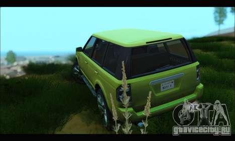 Gallivanter Baller I (GTA V) для GTA San Andreas вид сзади слева