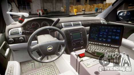 Chevrolet Tahoe 2010 Sheriff Bohan [ELS] для GTA 4 вид сзади