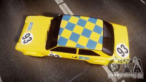 Ford Escort RS1600 PJ93 для GTA 4 вид справа