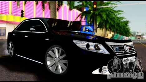 Toyota Camry 2013 для GTA San Andreas вид справа