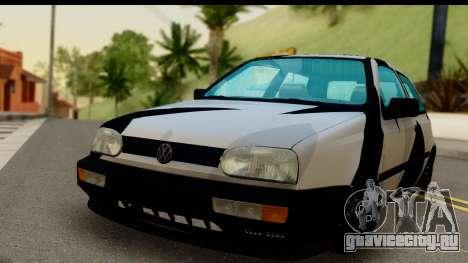 Volkswagen Golf 3 для GTA San Andreas вид сзади слева