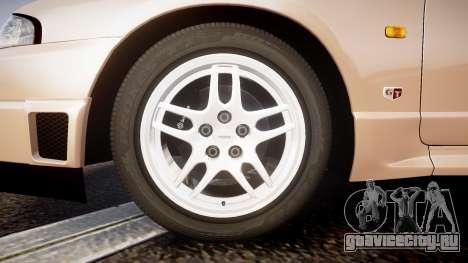 Nissan Skyline R33 GT-R V.spec 1995 для GTA 4 вид сзади