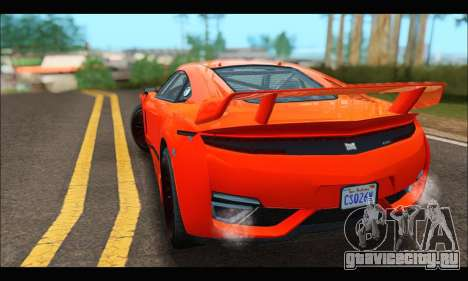 Dinka Jester Racecar (GTA V) для GTA San Andreas вид сзади