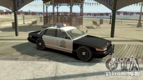 GTA V Vapid Stanier Police Cruiser для GTA 4 вид слева