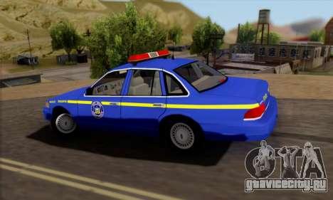 Ford Crown Victoria 1992 State Patrol для GTA San Andreas вид слева