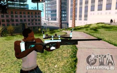 Blue Line Sniper для GTA San Andreas третий скриншот