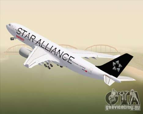 Airbus A330-200 SWISS (Star Alliance Livery) для GTA San Andreas вид сверху
