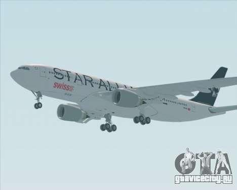 Airbus A330-200 SWISS (Star Alliance Livery) для GTA San Andreas вид справа