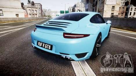 RUF RGT8 2014 для GTA 4 вид сзади слева