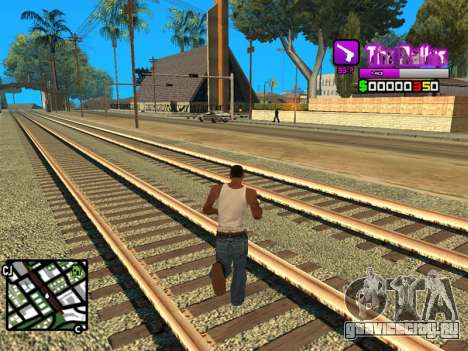 C-HUD Ballas by Inovator для GTA San Andreas третий скриншот