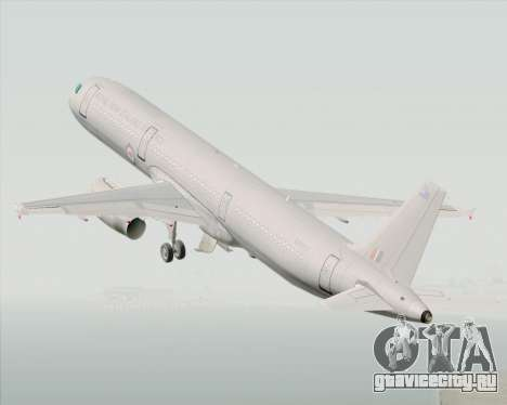 Airbus A321-200 Royal New Zealand Air Force для GTA San Andreas вид изнутри