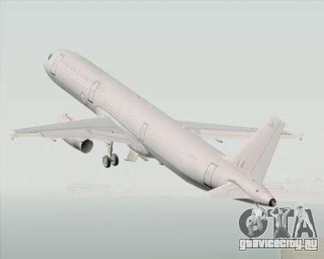 Airbus A321-200 Royal New Zealand Air Force для GTA San Andreas вид изнутри