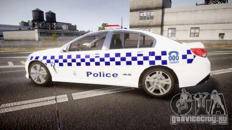 Holden VF Commodore SS Victorian Police [ELS] для GTA 4 вид слева