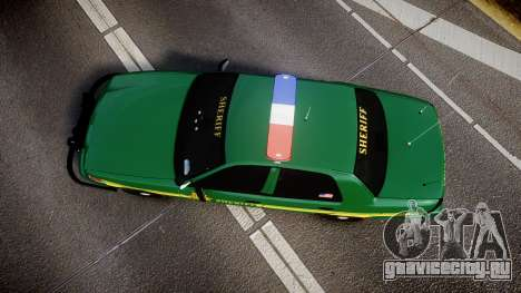 Ford Crown Victoria Sheriff [ELS] green для GTA 4 вид справа