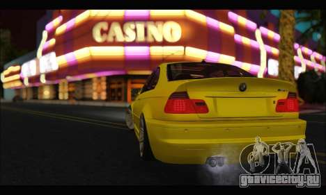 BMW M3 Coupe Tuned для GTA San Andreas вид справа