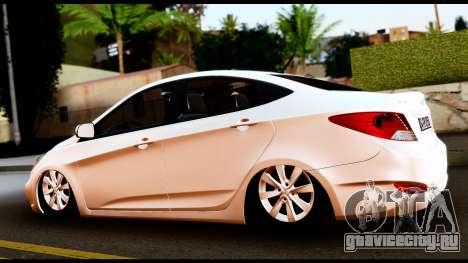 Hyundai Accent Blue для GTA San Andreas вид слева