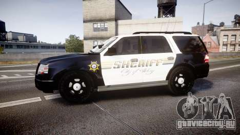 Ford Expedition 2010 Sheriff [ELS] для GTA 4 вид слева