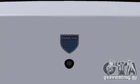 Dacia Logan Taxi для GTA San Andreas вид сверху