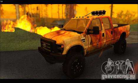 Ford F-250 Rusty Lifted 2010 для GTA San Andreas вид сзади слева