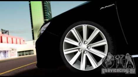 Toyota Camry 2013 для GTA San Andreas вид сзади