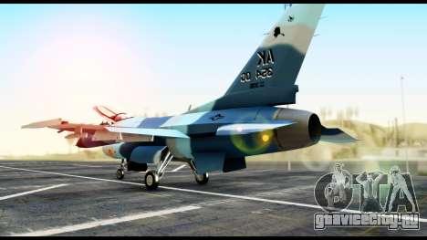 F-16 Aggressor Alaska для GTA San Andreas вид слева