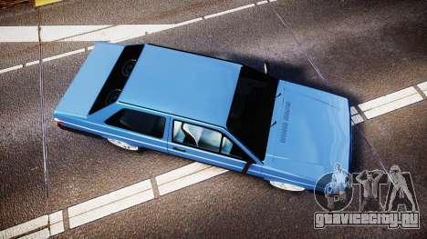 Volkswagen Voyage 1990 для GTA 4 вид справа