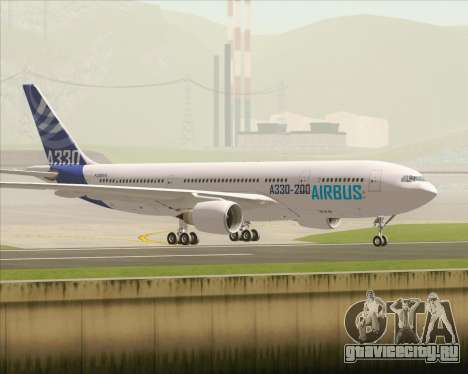 Airbus A330-200 Airbus S A S Livery для GTA San Andreas вид изнутри