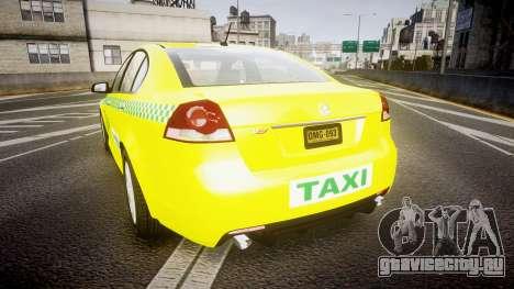 Holden Commodore Omega Series II Taxi v3.0 для GTA 4 вид сзади слева