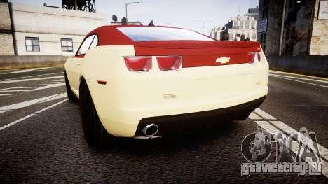 Chevrolet Camaro SS для GTA 4 вид сзади слева