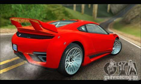 Dinka Jester Racecar (GTA V) (IVF) для GTA San Andreas вид справа
