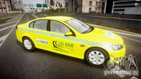 Holden Commodore Omega Series II Taxi v3.0 для GTA 4 вид слева