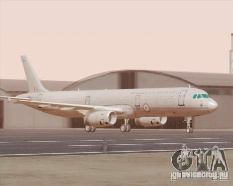 Airbus A321-200 Royal New Zealand Air Force для GTA San Andreas вид слева