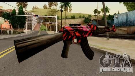 Red Tiger AK47 для GTA San Andreas второй скриншот
