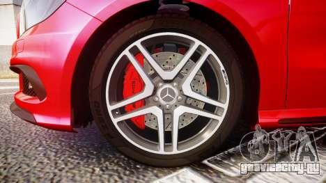 Mersedes-Benz A45 AMG для GTA 4 вид сзади