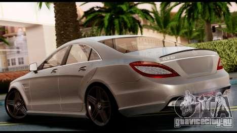Mercedes-Benz CLS 63 AMG 2010 для GTA San Andreas вид слева