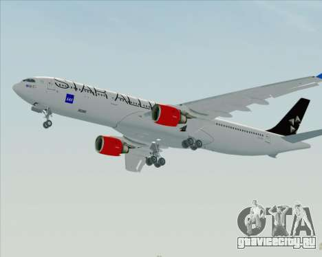 Airbus A330-300 SAS Star Alliance Livery для GTA San Andreas вид сзади
