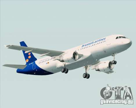 Airbus A320-200 Brussels Airlines для GTA San Andreas вид сзади