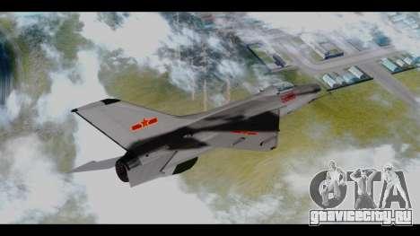 MIG-21 China Air Force для GTA San Andreas вид слева