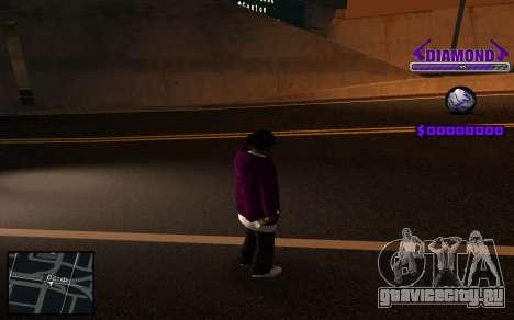 C-HUD Diamond Gangster для GTA San Andreas четвёртый скриншот