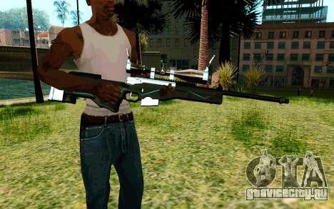 Blue Line Sniper для GTA San Andreas второй скриншот