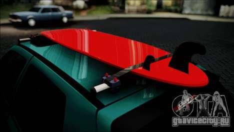 Volkswagen Golf Mk3 Hawaii Style для GTA San Andreas вид сзади