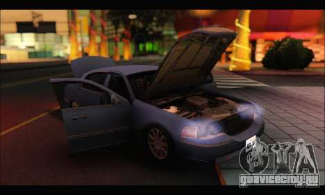 Lincoln Towncar (IVF) для GTA San Andreas вид справа
