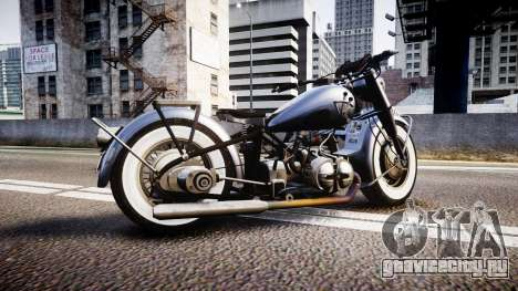 BMW R75 black-and-whites tires для GTA 4 вид слева